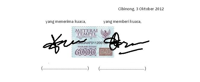 surat kuasa mengambil uang di bank